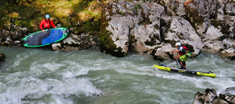 Wildwasser SUP Sicherheit
